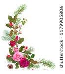 vertical corner border with red ... | Shutterstock .eps vector #1179905806