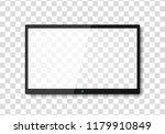 modern tv screen.display wide... | Shutterstock .eps vector #1179910849