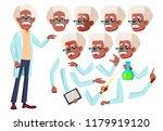 old man. senior person. black.... | Shutterstock . vector #1179919120