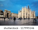 Milan Cathedral  Duomo And...