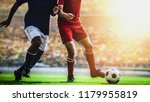 soccer football player red... | Shutterstock . vector #1179955819