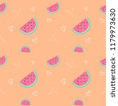 watermelon seamless pattern... | Shutterstock .eps vector #1179973630