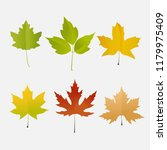 colorful autumn leaves set ... | Shutterstock .eps vector #1179975409