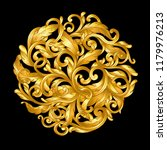 gold ornament baroque style  on ... | Shutterstock .eps vector #1179976213