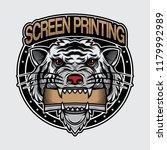 white tiger logo screen... | Shutterstock .eps vector #1179992989