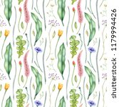 watercolor floral pattern with... | Shutterstock . vector #1179994426