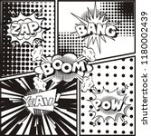 Comic Page Background Explosion ...