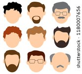 colored set of men face icons.... | Shutterstock .eps vector #1180007656