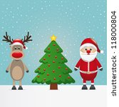 santa claus reindeer and... | Shutterstock .eps vector #118000804