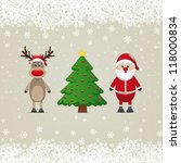 santa claus reindeer and... | Shutterstock .eps vector #118000834