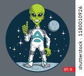 cute alien character. vector...   Shutterstock .eps vector #1180010926