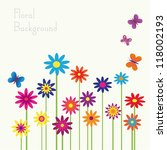 colorful floral background with ... | Shutterstock .eps vector #118002193