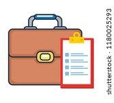 portfolio briefcase with... | Shutterstock .eps vector #1180025293