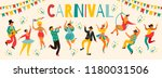 hello carnival vector... | Shutterstock .eps vector #1180031506