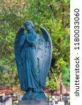 Big Stone Angel On A Cemetery