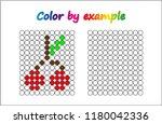 worksheet.  cherry   puzzle...   Shutterstock .eps vector #1180042336