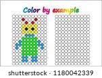 worksheet.  robot   puzzle task ... | Shutterstock .eps vector #1180042339