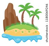 an island with trees and in a... | Shutterstock .eps vector #1180069246