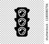 traffic light icon. on...