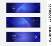 blue template banners set with... | Shutterstock .eps vector #1180086130