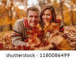 beautiful young couple in sunny ...   Shutterstock . vector #1180086499