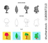 vector illustration of tree and ...   Shutterstock .eps vector #1180087213
