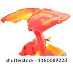yellow orange liquid splash...   Shutterstock . vector #1180089223