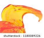 yellow orange liquid splash...   Shutterstock . vector #1180089226