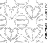 gingerbread. black and white... | Shutterstock .eps vector #1180091440