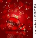 abstract beauty christmas and... | Shutterstock . vector #118009159