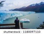 perito moreno glacier ... | Shutterstock . vector #1180097110