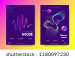 electronic music party poster... | Shutterstock .eps vector #1180097230