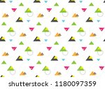 seamless pattern of geometric... | Shutterstock .eps vector #1180097359