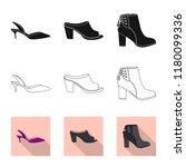 vector design of footwear and... | Shutterstock .eps vector #1180099336