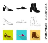 isolated object of footwear and ... | Shutterstock .eps vector #1180099816
