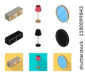 isolated object of bedroom and...   Shutterstock .eps vector #1180099843
