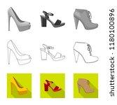 vector illustration of footwear ... | Shutterstock .eps vector #1180100896