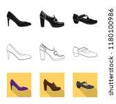 vector design of footwear and... | Shutterstock .eps vector #1180100986