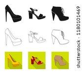 vector illustration of footwear ... | Shutterstock .eps vector #1180101469