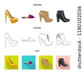 vector design of footwear and... | Shutterstock .eps vector #1180102036