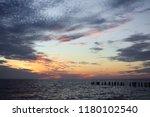 abstract seascape sky... | Shutterstock . vector #1180102540