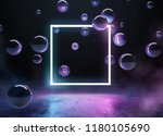 cyber punk neon background | Shutterstock . vector #1180105690