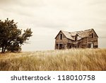 A Collapsing Old House On The...
