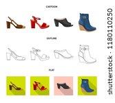 vector illustration of footwear ... | Shutterstock .eps vector #1180110250
