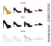 vector illustration of footwear ... | Shutterstock .eps vector #1180112920