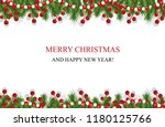 christmas background with... | Shutterstock .eps vector #1180125766