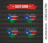 south sudan heart with flag... | Shutterstock .eps vector #1180126780