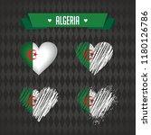 algeria heart with flag inside. ... | Shutterstock .eps vector #1180126786