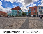 the newly opened forum shopping ... | Shutterstock . vector #1180130923