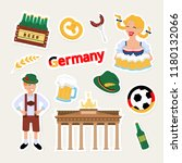 fashion german patch badge with ... | Shutterstock .eps vector #1180132066